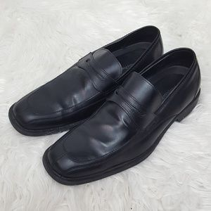 Perry Ellis Portfolio Black Leather Loafers